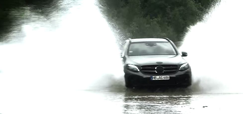 Mercedes-Benz GLC video teaser screenshot / скриншот видео-тизер