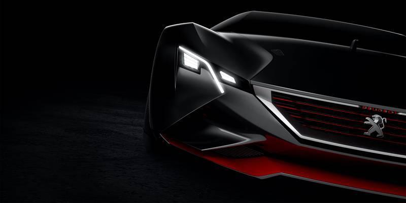 Peugeot опубликовал новые тизеры концепта суперкара