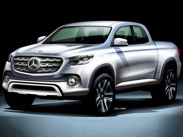 Mercedes-Benz пикап 2020 дизайн-скетч