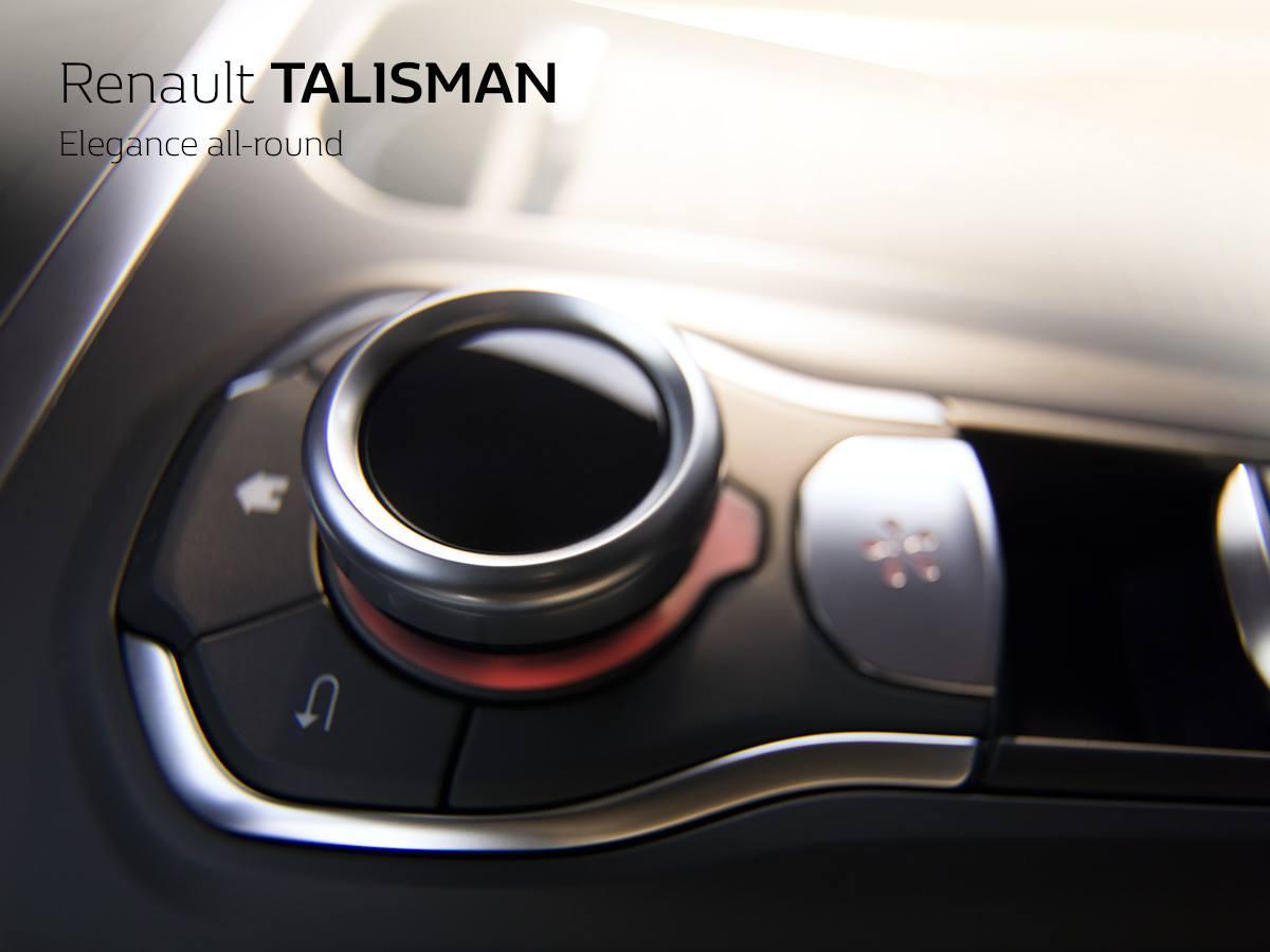 Показан тизер с поворотным мульти-регулятором Renault Talisman