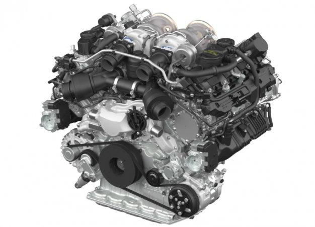 Porsche представил новый битурбо мотор V8