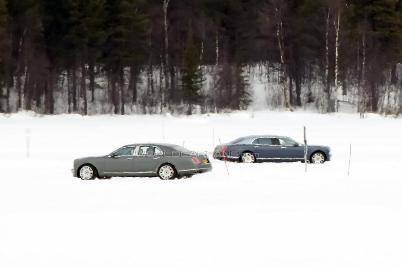 Bentley Mulsanne LWB шпионские фото