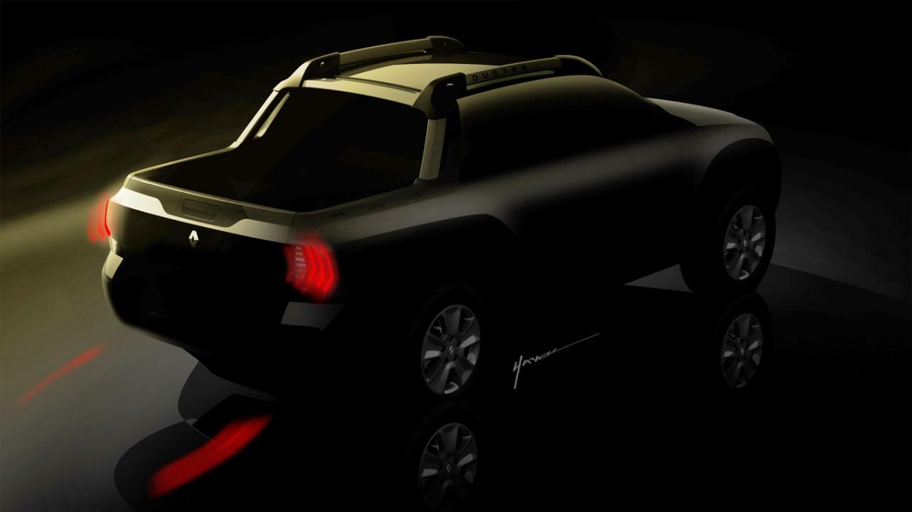 Renault Oroch пикап тизер / pickup teaser
