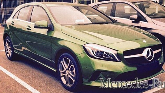 Появилось новое шпионское фото обновленного Mercedes-Benz A-Class 2016