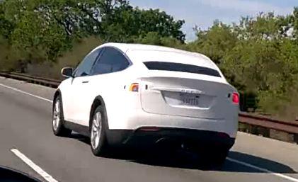 Tesla Model X 2016 шпионские фото-видео