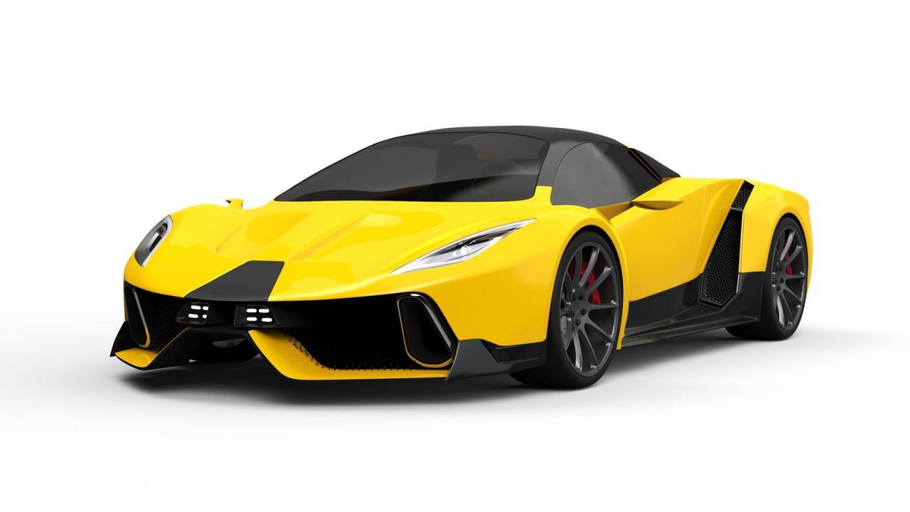 PSC Motors SP-200 SIN render pictures/рендер изображения суперкара