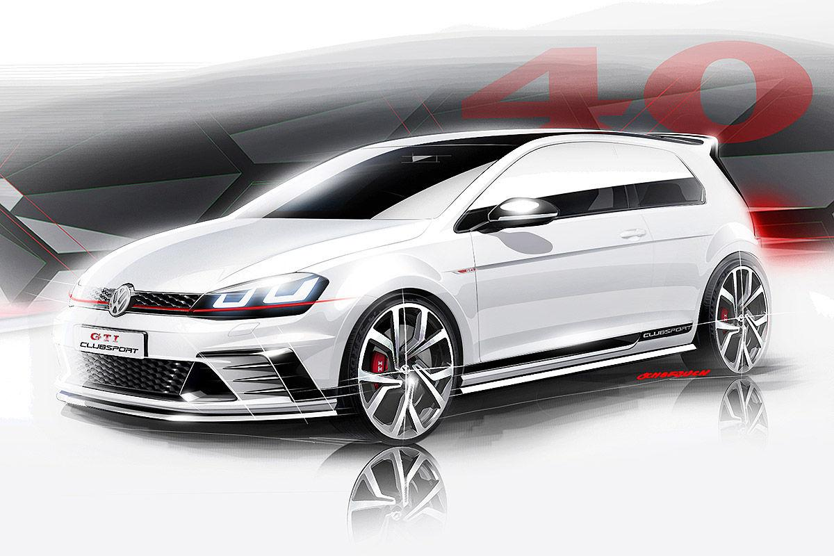 Представлены тизеры Volkswagen Golf GTI Clubsport перед дебютом в Вертерзее