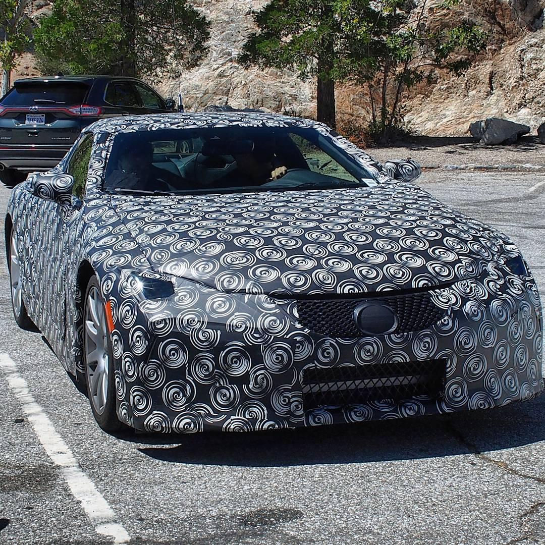 Lexus LF-LC шпионское фото тестового прототипа
