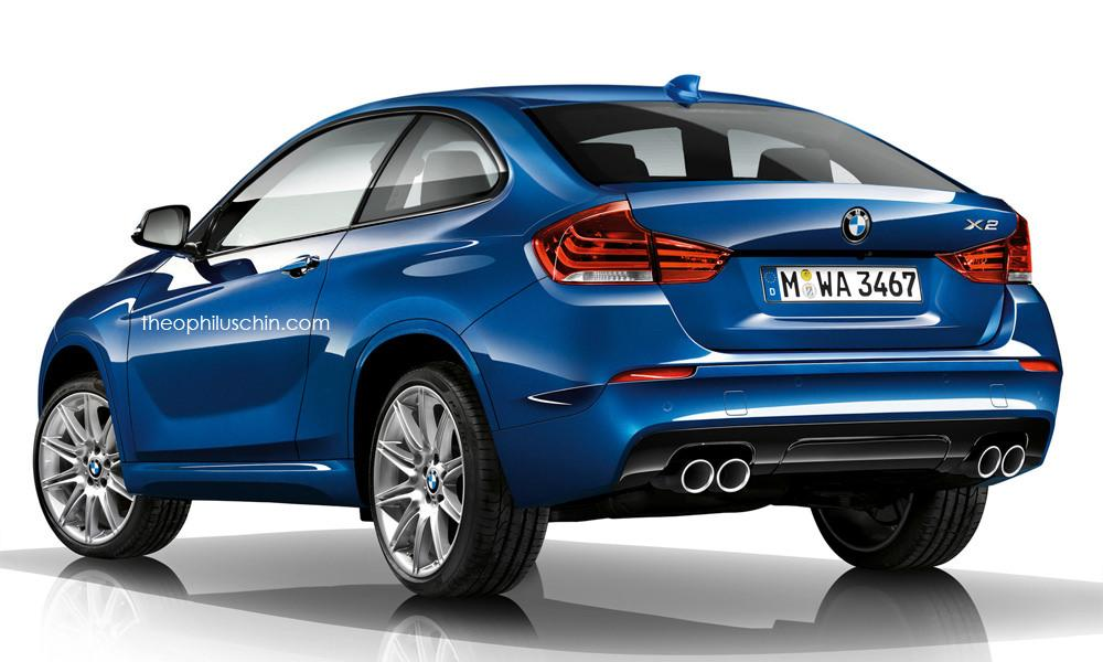 BMW X2 2017 рендер от независимого дизайнера Theophilus Chin/artist render